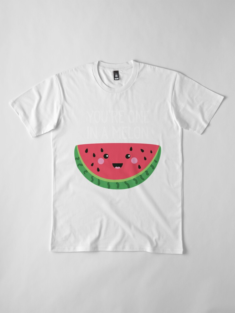 Alternative Ansicht von Du bist eins in einer Melone Cute Watermelon Fruit Wortspiel Premium T-Shirt
