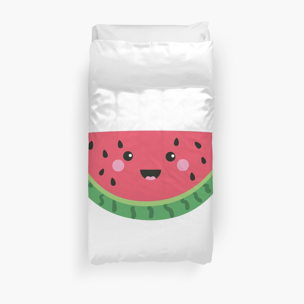 Du bist eins in einer Melone Cute Watermelon Fruit Wortspiel Bettbezug