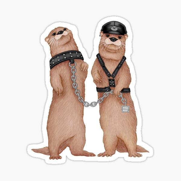 Kinky Otters Sticker