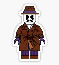 Lego Rorschach - Watchmen Minifigure Sticker