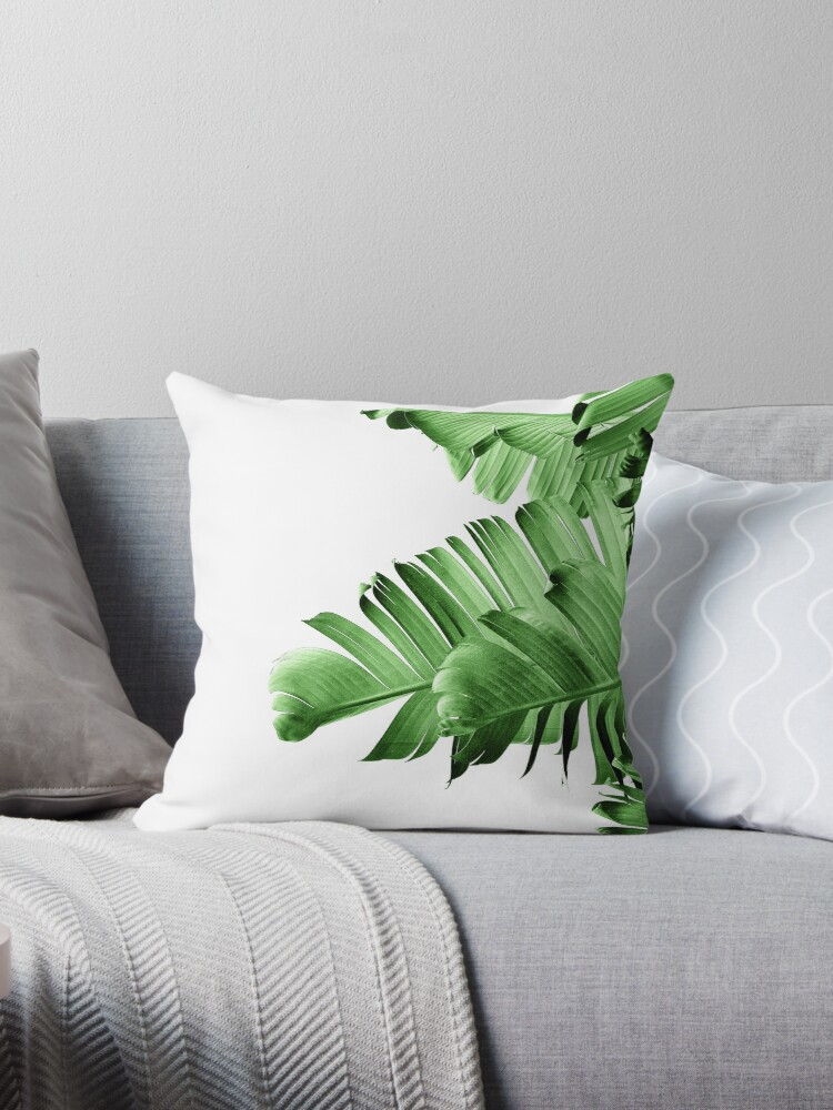 Surprising Banana Palm Leaf Throw Pillow By Thegypseatribe Ocoug Best Dining Table And Chair Ideas Images Ocougorg