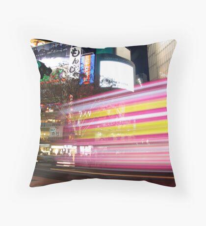 Shibuya Lights Throw Pillow