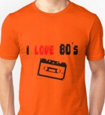 i love 80's - Tape - Pixelart Unisex T-Shirt