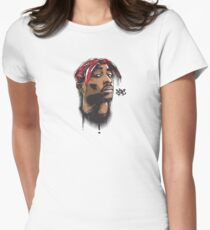 2PAC RAP SHIRT Womens Fitted T-Shirt