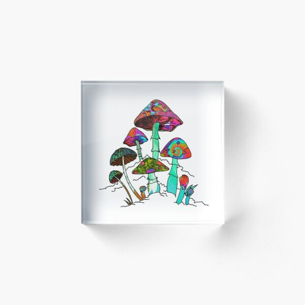 "Garden of Shroomz | ""Field Trip"" Edition Acrylic Block"
