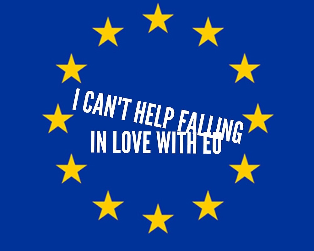 I can't help falling in love with EU by MworldTee