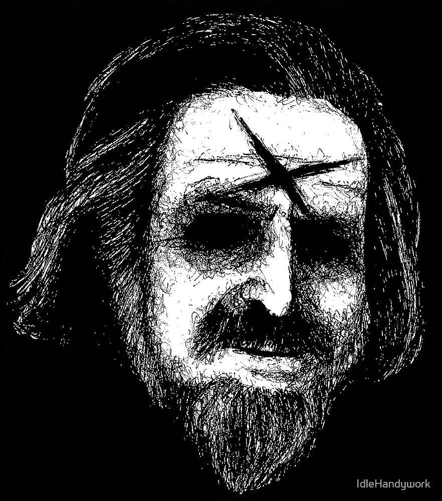 Alan Watts sketch portrait by IdleHandywork