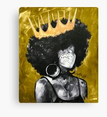 Naturally Queen II GOLD Canvas Print
