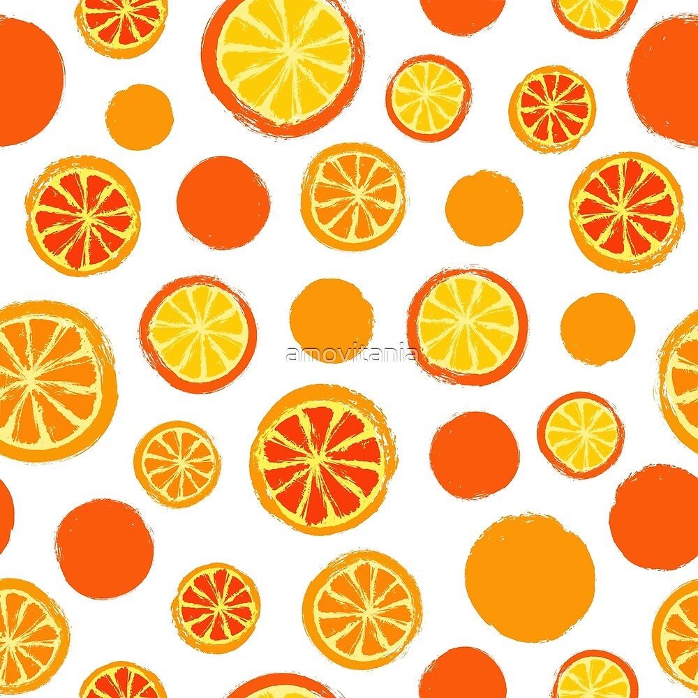 Oranges Background Painted Pattern by amovitania