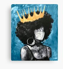 Naturally Queen II BLUE Canvas Print