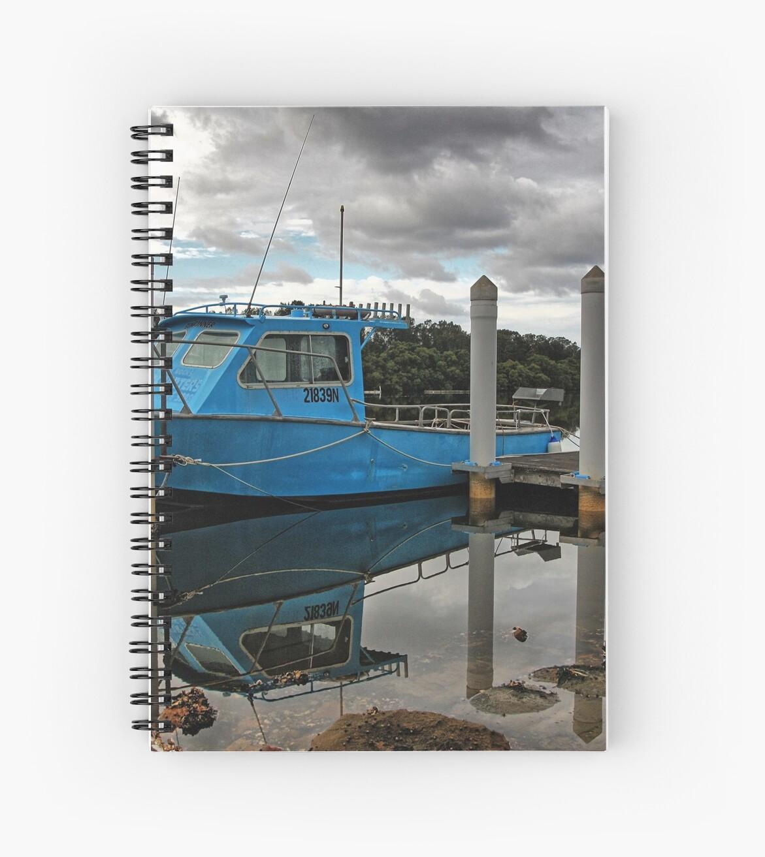 Blue boat. by Ian Ramsay