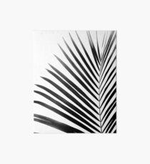 PALM LEAF Black & White Art Board Print