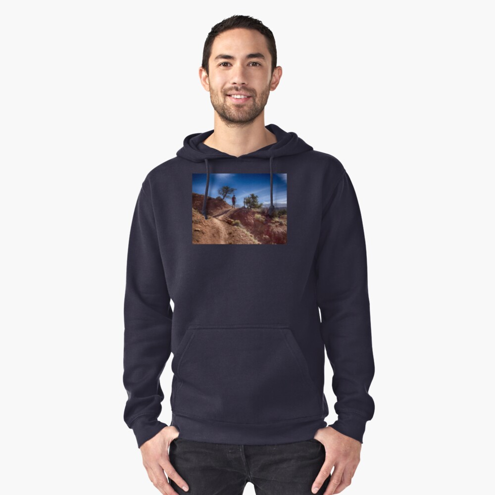 The Hiker - Kodachrome Basin State Park - Utah Pullover Hoodie Front