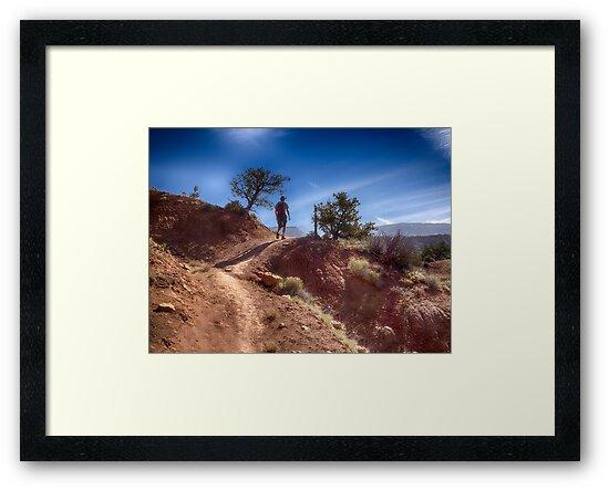 The Hiker - Kodachrome Basin State Park - Utah by Kathy Weaver