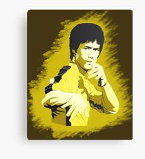 Bruce Lee Game of Death pose Canvas Print
