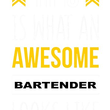 BARTENDER AWESOME LOOK LIKE by casanovajackie