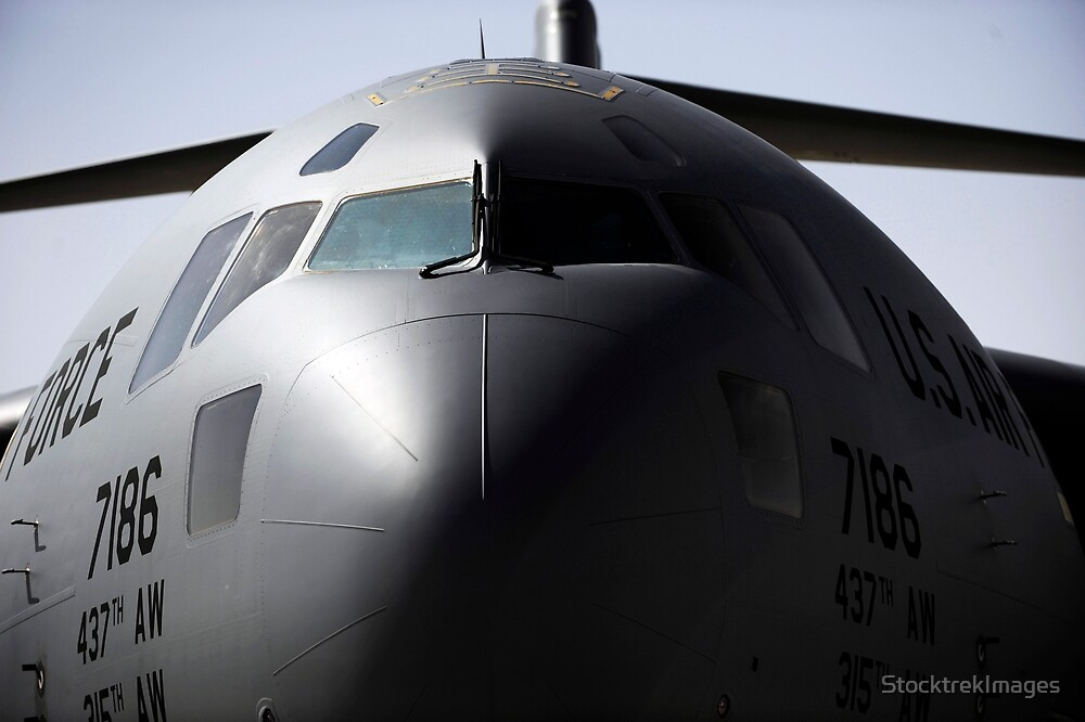 Close-up of the front of a C-17 Globemaster III. by StocktrekImages