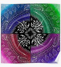 Mandala Swirl Poster