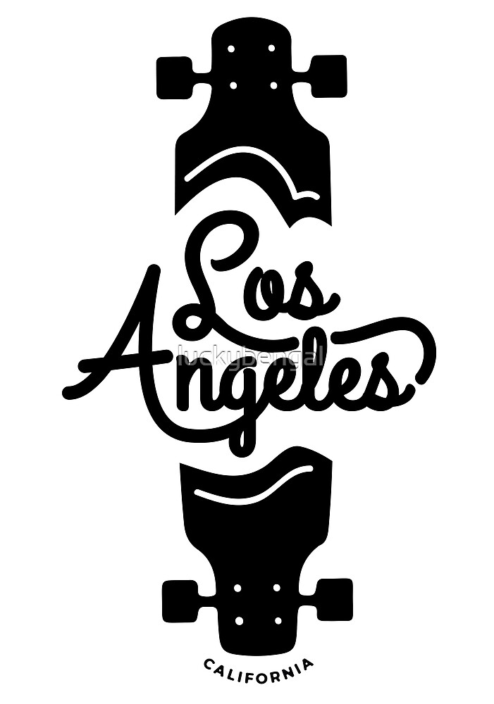 Los Angeles Punk Skate Art by luckybengal