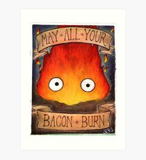 Howl's Moving Castle Illustration - CALCIFER (original)  Art Print