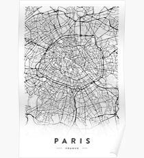 PARIS STADTPLAN Poster