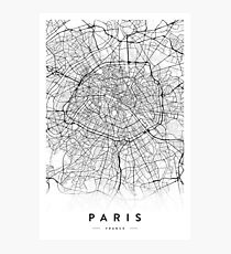 Lámina fotográfica MAPA DE LA CIUDAD DE PARÍS