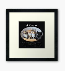 A Kindle Framed Print