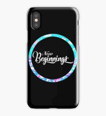 New Beginnings Typography iPhone Case/Skin