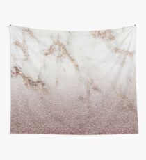 Burgundy glow - marble glitter gradient Wall Tapestry