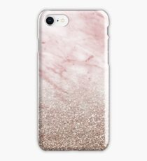 Rose gold champagne glitter gradient iPhone Case/Skin