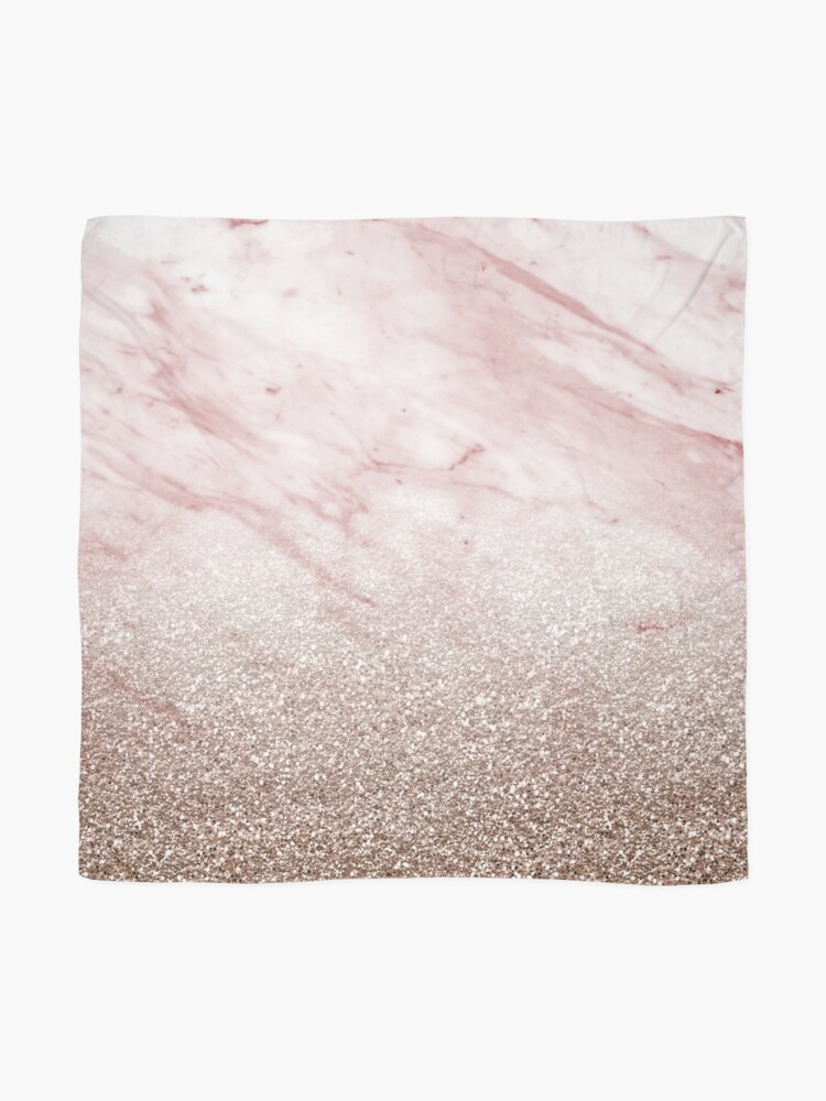 Alternate view of Rose gold champagne glitter gradient Scarf
