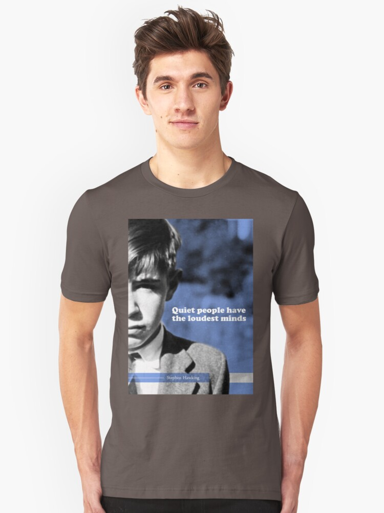 Alternate view of Stephen Hawking Quote 2 Slim Fit T-Shirt