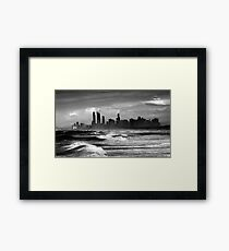 Rough Seas, Gold Coast, Australia Framed Print