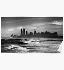 Rough Seas, Gold Coast, Australia Poster