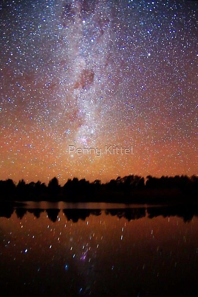 Milky way reflections by Penny Kittel