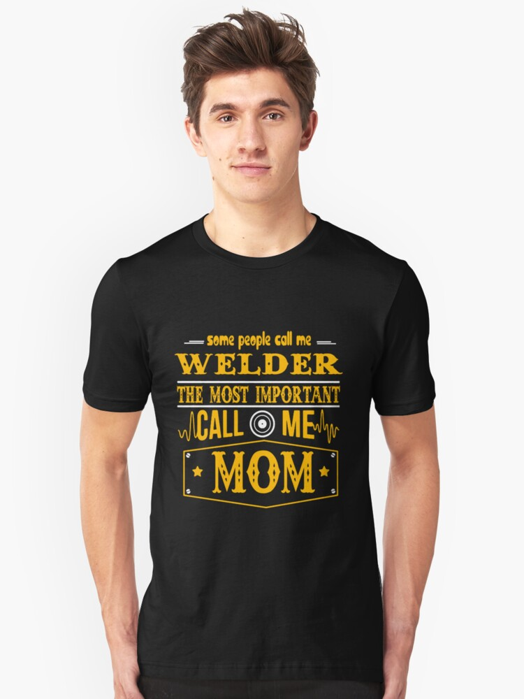 WELDER THE BEST MAN Unisex T-Shirt Front