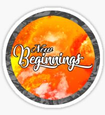 New Beginnings Typography Sticker