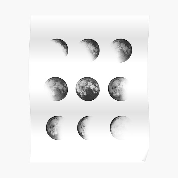 MOON PHASES DESIGN Poster