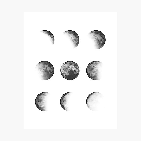 MOON PHASES DESIGN Photographic Print