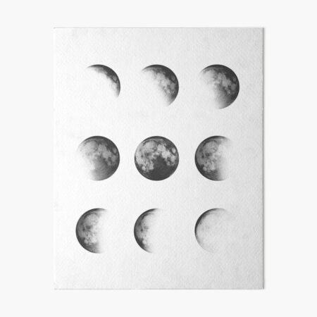 MOON PHASES DESIGN Art Board Print