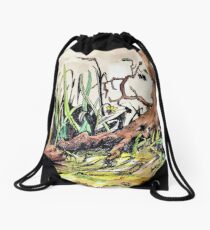 Ripple Talks to Sunbaked Drawstring Bag