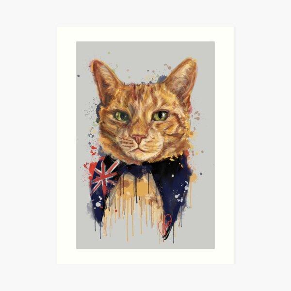 Project Caturday - Ambassacat Frisky LeRouge Art Print