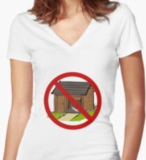 Ain't the Sharpest Tool in the Shed Women's Fitted V-Neck T-Shirt