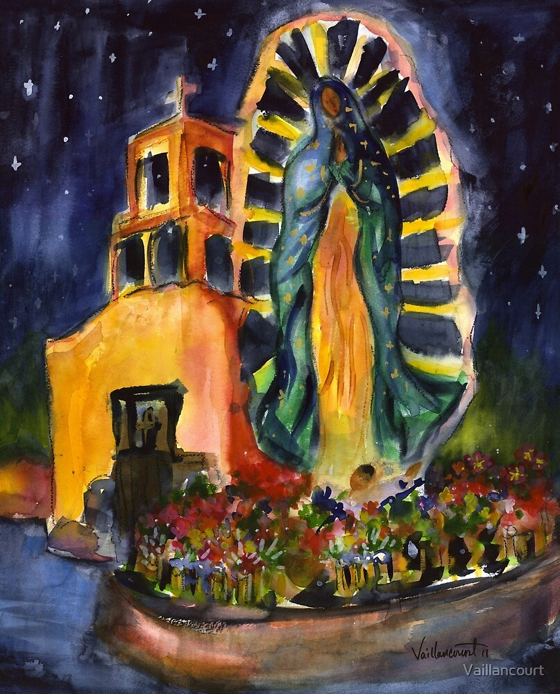 Guadalupe at Night by Vaillancourt