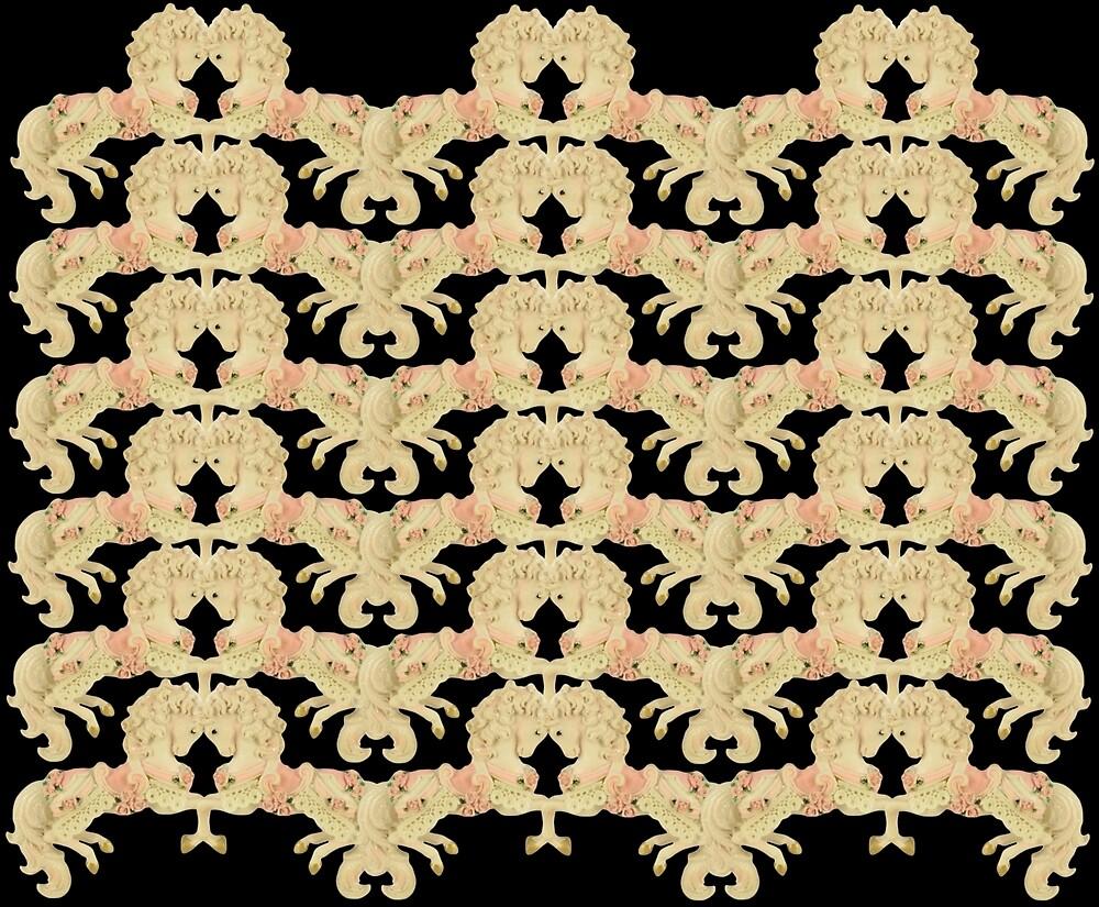 Prancing Carouselle ponies-blacka by BURPdesigns