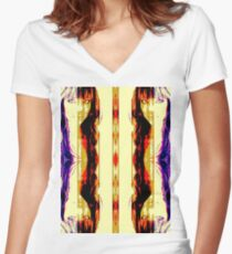 One last look in the mirror Women's Fitted V-Neck T-Shirt