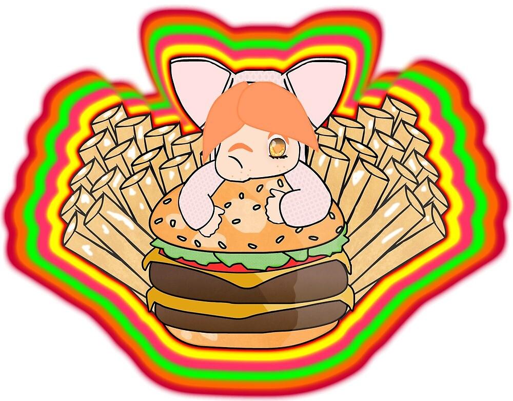 Burger nom nom nom by Swasbi
