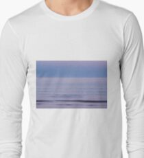 Magenta sunset over the sea Long Sleeve T-Shirt