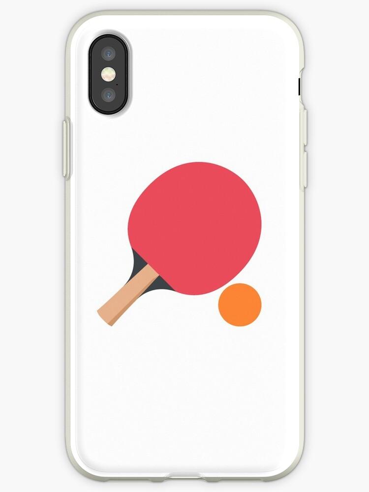 Ping Pong Table Tennis Racket Ball Hit Serve by stevesemojis