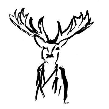Grumpy Deer by ICannotDraw